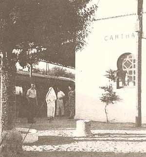 Carthage (municipality) - TGM station Carthage (1940s photograph)
