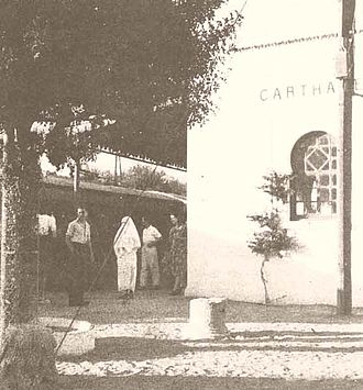 Carthage (municipality) - TGM station Carthage (1940s photograph)