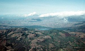 La Yeguada - La Yeguada (foreground) in 1994. Laguna La Yeguada is also visible.