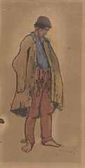 Study of a Standing Gypsy
