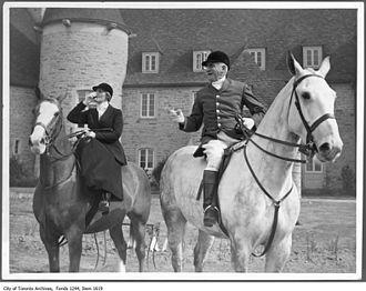 Aemilius Jarvis - Lady Eaton and Aemilius Jarvis at Eaton Hall in King City, Ontario, Canada.