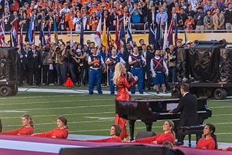 Super Bowl 50 - Lady Gaga singing the national anthem