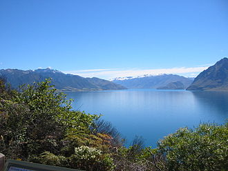 Lake Hāwea - Image: Lake Hawea, New Zealand