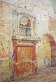 Lararium of the House IX,1,7, Pompeii,1903 (watercolor).jpg