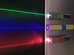 Laserpointer wikipedia 39 s laserpekare as translated by gramtrans for Metre laser castorama lille