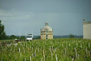 Bordeaux wine regions - The Château Latour tower in Pauillac is featured on every bottle of this First Growth wine