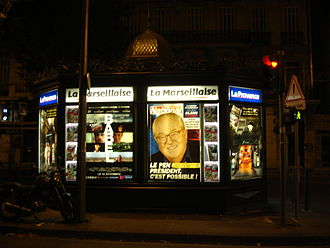 National Front (France) - National advertisement in Marseille for Le Pen's 2007 presidential bid