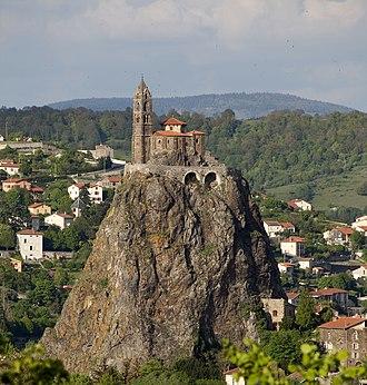Haute-Loire - Image: Le Puy en Velay, Église Saint Laurent et Aiguilhe PM 48569