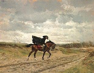 Le voyageur (Le maréchal Ney à cheval luttant contre le vent)