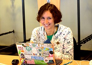 Lea Lacroix at WikidataCon 2019 DSC 7837 (cropped).jpg