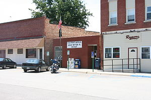 Leaf River, Illinois - Post office on the main road of Leaf River