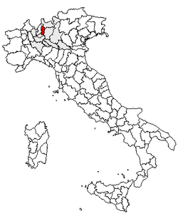 Location of Province of Lecco