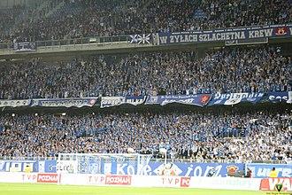 Stadion Miejski (Poznań) - Lech's fans during the match