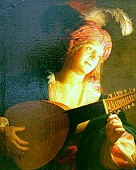 Woman with Lute