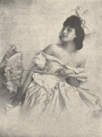 Lena Amsel zu ihrem jüngsten Tanzabend 1918 Franz X. Setzer.png