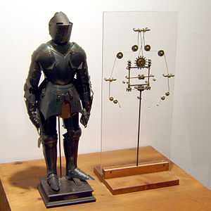 Model of a robot based on drawings by Leonardo...