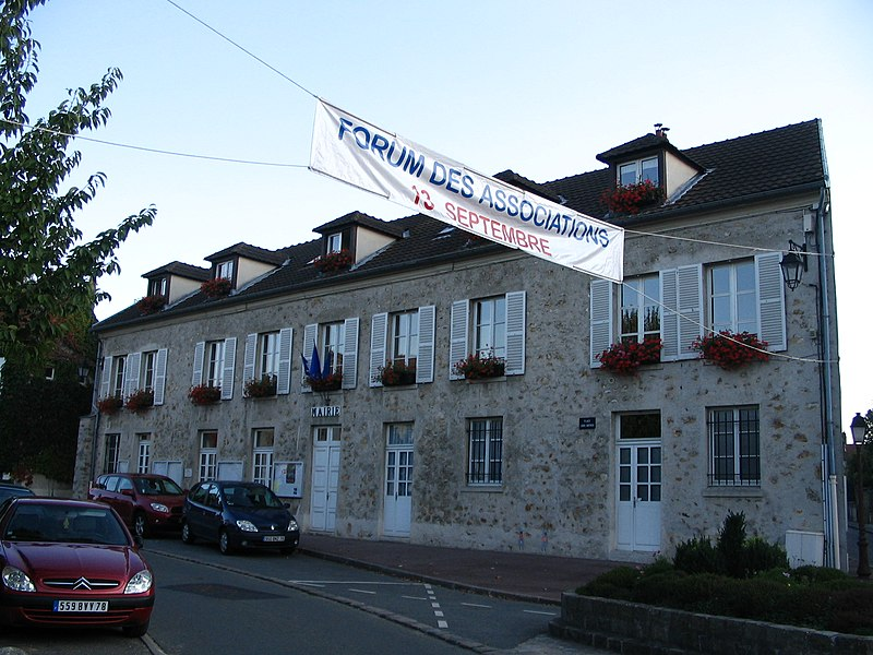The town hall of Les Loges-en-Josas, Yvelines, France.