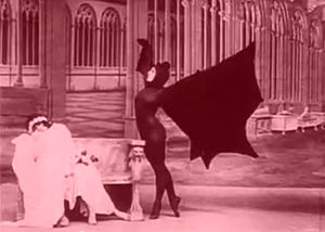 "Les Vampires - Marfa Koutiloff (Stacia Napierkowska) dancing as a vampire bat in ""The Ring That Kills"""