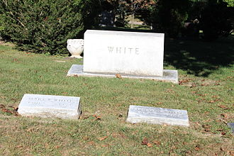 Leslie White - White grave, Forest Hill Cemetery