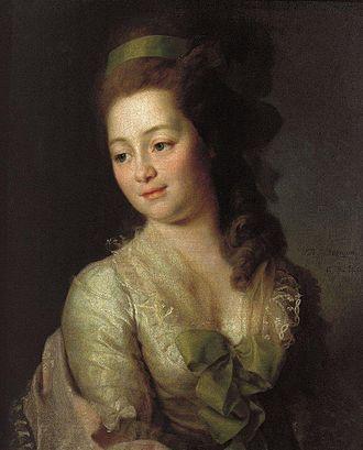 Nikolay Lvov - Maria Lvova, née Dyakova (Dmitry Levitzky, 1778)