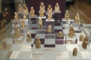 Lewis chessmen - The Lewis chessmen in the British Museum