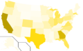 Libertarian Party presidential election results, 2000, raw vote count (United States of America).png