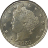 Liberty head nickel, obverse side, showing Liberty wearing a coronet and wreath
