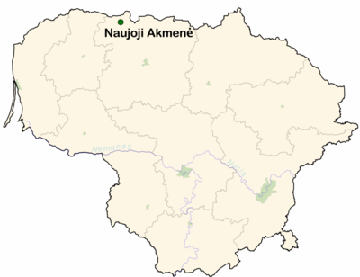 naujoji akmene men Naujoji akmen is a city in akmen district municipality, lithuania it is one of the newest cities in lithuania its name means the new akmen it is an industrial center.