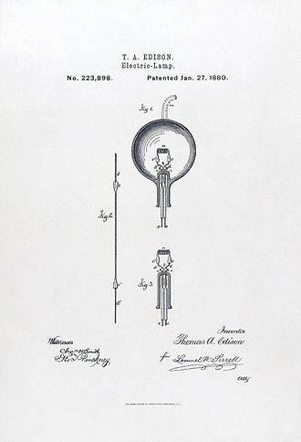 Second Industrial Revolution - Image: Light bulb Edison 2