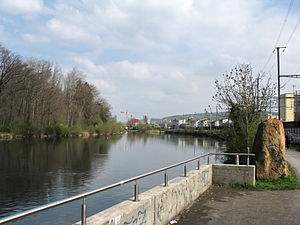 Dietikon - The Limmat at Dietikon railway station