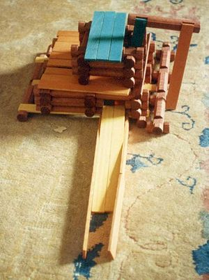 Lincoln Logs - A sawmill made from Lincoln Logs