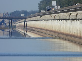 Atchafalaya Basin Bridge - Atchafalaya Basin Bridge - Highlighting Earth Curvature