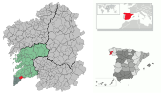 Tui, Pontevedra - Image: Location of Tui