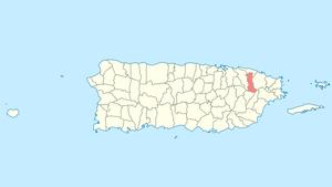 Canóvanas, Puerto Rico - Image: Locator map Puerto Rico Canovanas
