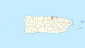 Location of Dorado in Puerto Rico