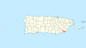 Location of Maunabo in Puerto Rico