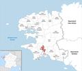 Locator map of Kanton Quimper-2 2019.png
