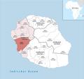 Locator map of Kanton Saint-Leu 2018.png
