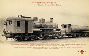 Cab forward - Italian cab forward locomotive, group 670