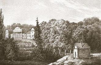 Lahoysk - Tyshkevich castle, picture by Napaleon Orda