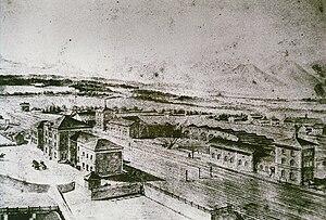 Rosenheim–Salzburg railway - Picture of the old Rosenheim station