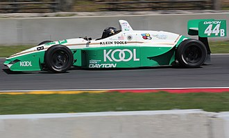 Indy Lights - The Lola T97/20 was the specified chassis used from 1997 to 2001. It is pictured here at a vintage racing event in 2016.