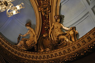Queen's Theatre - Auditorium, ceiling detail