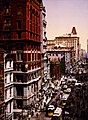 Looking up Broadway from Dey Street, New York City, 1900.jpg