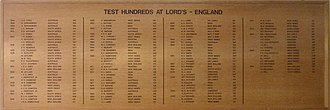Andrew Strauss - Strauss was added to the Lord's honours board for scoring a century on his Test debut