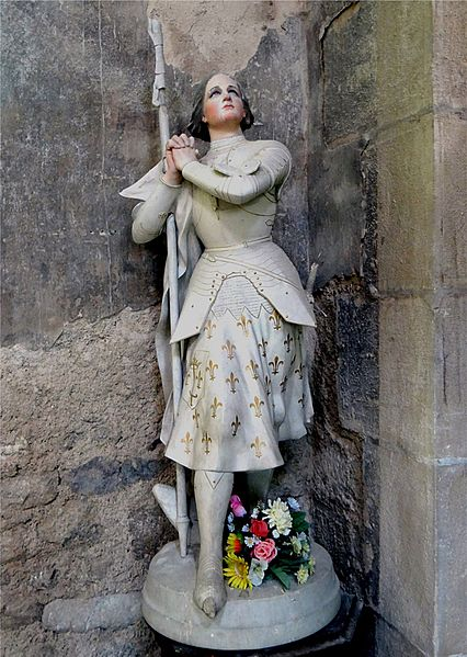 St. Alban Church, Lormes, Nièvre, France. Statue of Sainte-Jeanne-d'Arc.