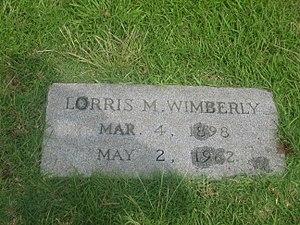 Lorris M. Wimberly - Grave of Lorris M. Wimberly
