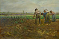 Lothar von Seebach-Récolte des pommes de terre par des hommes.jpg