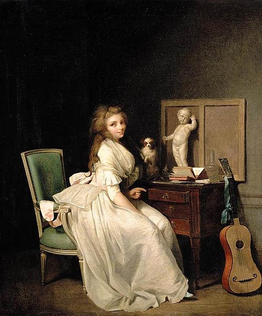 Louis-Léopold Boilly - A Lady Seated at Her Desk - WGA02352