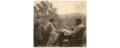 Louise and Kenyon Cox at a table outdoors, 1896.png
